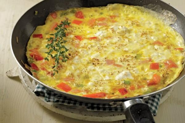 Ομελέτα με τυρί κρέμα και ντομάτα!