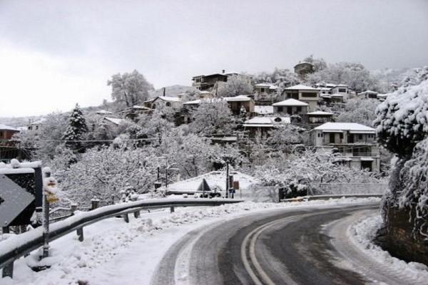 Κλειστά σχολεία και χιονοδρομικό στο Πήλιο από την έντονη χιονόπτωση