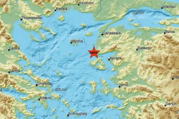 Ασθενής σεισμός 3,6 Ρίχτερ στη Λέσβο!
