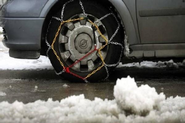 Οδηγοί δώστε βάση: Σε ποιες περιοχές της Κεντρικής Μακεδονίας χρειάζονται αλυσίδες!