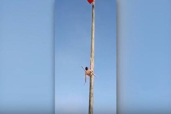 Βίντεο σοκ: Αθλητής του icy pole πέφτει στο κενό από ύψος 7,5 μέτρα!