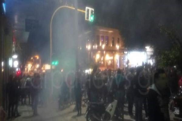 Επεισόδια στα Χανιά μετά το καρναβάλι - Χρήση κρότου-λάμψης έκανε η αστυνομία