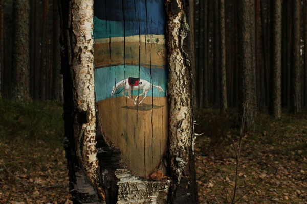 Street art μέσα στο δάσος!