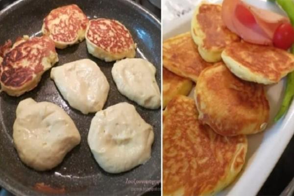 Αφράτες τηγανίτες γιαουρτιού, εύκολα, γρήγορα και μόνο με 4 υλικά! Θα γλείφετε τα δάχτυλά σας