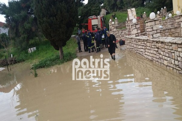 Στο έλεος της κακοκαιρίας η Ηλεία! - Σοβαρά προβλήματα από τις πλημμύρες και τις κατολισθήσεις! (Photo)