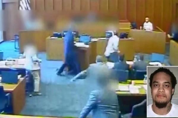 Κατηγορούμενος την ώρα της δίκης επιτέθηκε σε μάρτυρα με στυλό! (Video)