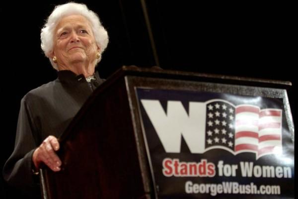 Εφυγε από τη ζωή η πρώην Πρώτη Κυρία των ΗΠΑ, Μπάρμπαρα Μπους!