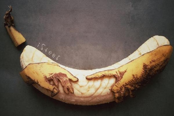 Εντυπωσιακά έργα τέχνης από... μπανάνες! (Photo)