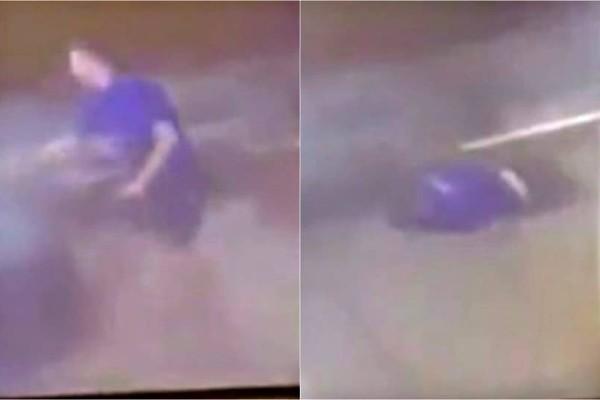 Τρομακτικό βίντεο: Έσκασε μπροστά του λάστιχο και τον τίναξε στον αέρα! (Video)