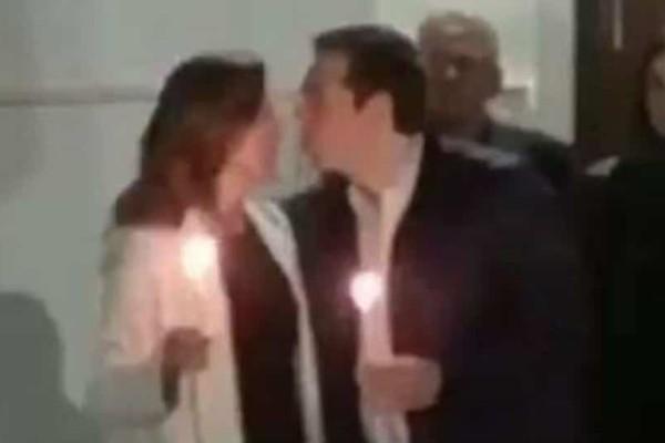 Το «φιλί της αγάπης» του Αλέξη Τσίπρα στην Μπέτυ Μπαζιάνα