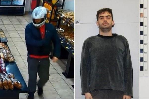 Αυτός είναι ο ληστής που έμπαινε στα καταστήματα με κράνος και «άδειαζε» τα ταμεία! (Photo & Video)