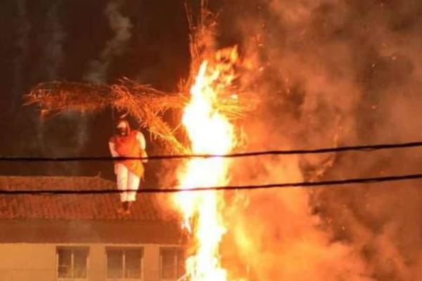 Εκαψαν τον Βαραββά στη Νέα Κίο -Ενα έθιμο από τη Μικρά Ασία (photos)