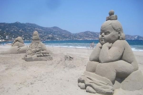 Κρήτη: Εντυπωσιακά γλυπτά... από άμμο! - Απίστευτες δημιουργίες! (Photo & Video)
