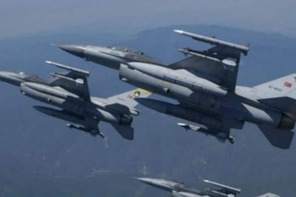 Υπερπτήσεις τουρκικών F-16 πάνω από τη νήσο Παναγιά στις Οινούσσες