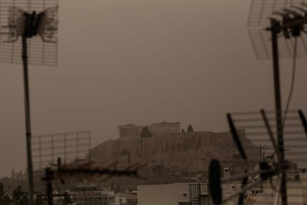 Αποπνικτική η ατμόσφαιρα στην Αττική εξαιτίας της αφρικανικής σκόνης!