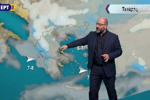Ο Σάκης Αρναούτογλου προειδοποιεί: Ραγδαία αλλαγή του καιρού με καταιγίδες και ισχυρούς ανέμους! (video)