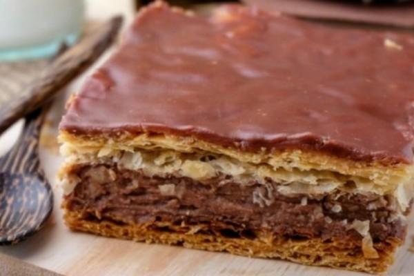 Μιλφέιγ με σοκολατένια κρέμα και γλάσο!