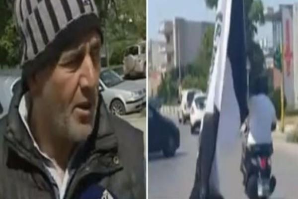 Ο 70χρονος «τρελός» ΠΑΟΚτσής που ταξίδεψε με παπάκι και μια τεράστια σημαία! (video)