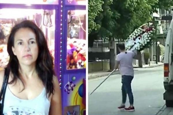 Σπαραγμός και οδύνη στην κηδεία της 44χρονης που έσφαξε ο άνδρας της! (video)