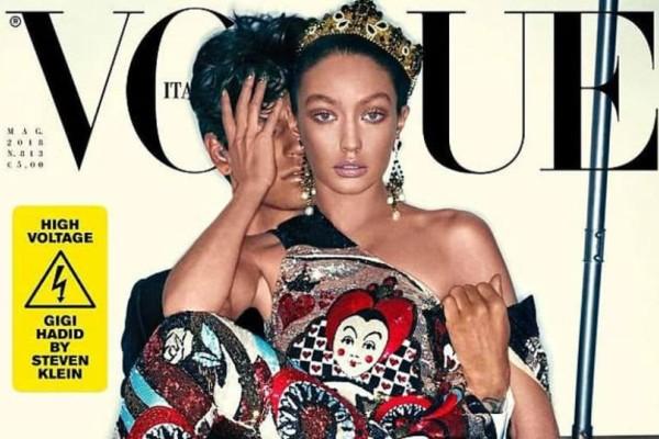 Για αυτό το εξώφυλλο κράζουν όλη τη Vogue -Εκανε την Τζίτζι Χαντίντ από άσπρη, μαύρη (photos)