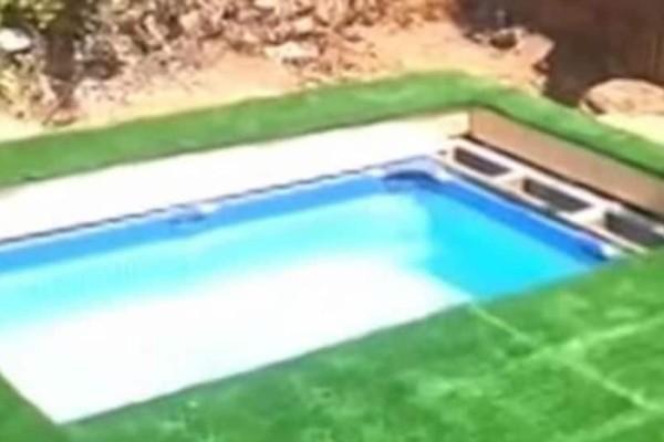"""Απίστευτο: Έφτιαξε """"κρυφή πισίνα"""" για να μην του… γκρινιάζει η γυναίκα του! (video)"""