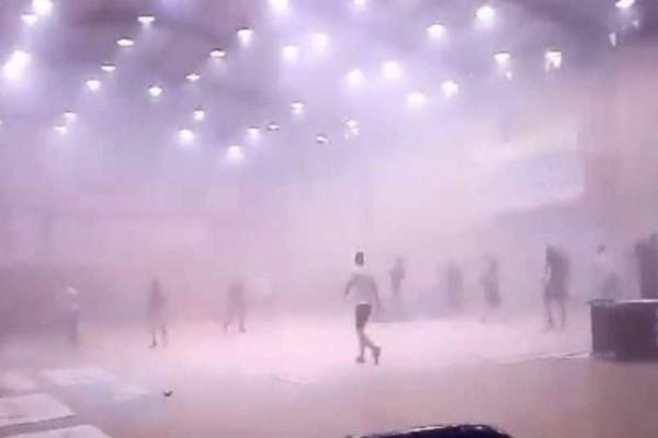 Τρομερά επεισόδια στο Μαρκόπουλο: Το γήπεδο μπάσκετ μετατράπηκε σε βομβαρδισμένο τοπίο! (photos+video)