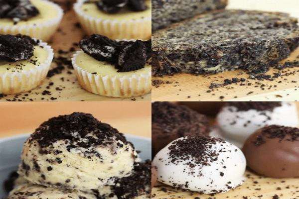 4 διαφορετικά και τέλεια επιδόρπια με σοκολατένια μπισκότα!