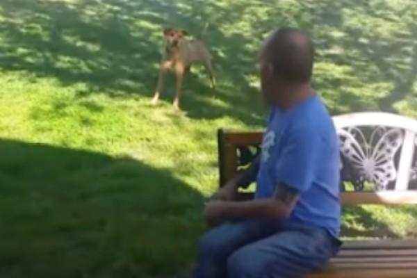 Συγκινητικό βίντεο: Έχασε τόσα πολλά κιλά που ο σκύλος του δεν τον αναγνώριζε μέχρι που τον...μύρισε!