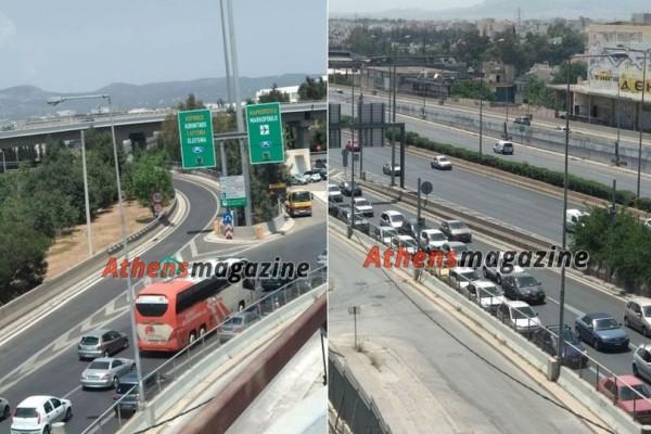 Ασύλληπτη κίνηση στην έξοδο για Αττική Οδό! (photos)