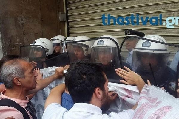 Ένταση και επεισόδια στη Θεσσαλονίκη για τους πλειστηριασμούς! (Video)
