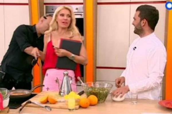 Η σπόντα της Μενεγάκη  στον μάγειρα της! «Σε ψάχνω και γυρνάς μαυρισμένος;» (video)