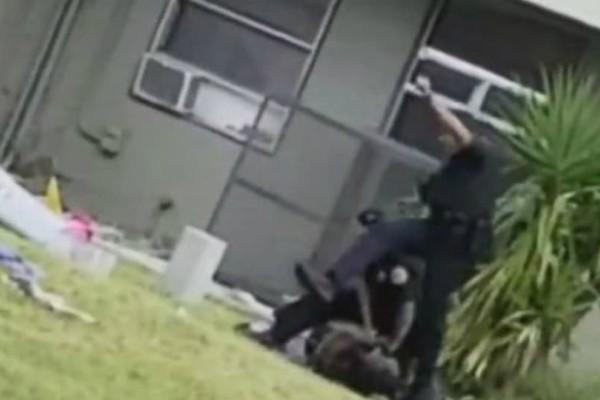 Βίντεο - σοκ: Αστυνομικός κλωτσάει στο κεφάλι ακινητοποιημένο κλέφτη αυτοκινήτου!