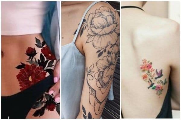 20 πανέμορφα τατουάζ με λουλούδια για γυναίκες!