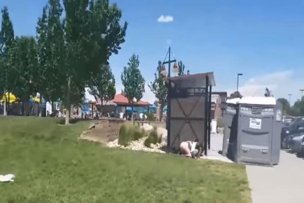 Ανεμοθύελλα σηκώνει στον αέρα χημικές τουαλέτες! (Video)