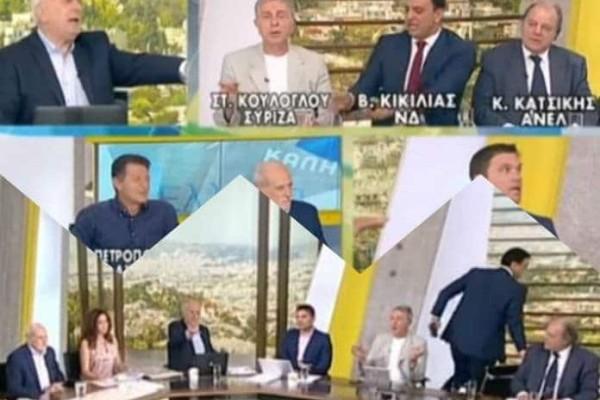 Έξαλλος ο Βασίλης Κικίλιας! Πέταξε το μικρόφωνο κι έφυγε από την εκπομπή! Όπως δεν τον έχουμε ξαναδεί! (video)