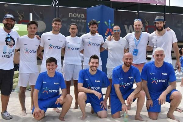 Νικοπολίδης και Παπαδόπουλος παίζουν footvolley στον Σχοινιά (Photos & video)