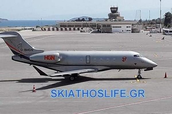 Το ιδιωτικό αεροσκάφος των Rolling Stones προσγειώθηκε στη Σκιάθο!