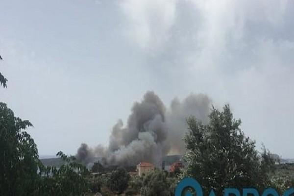 Μεγάλη πυρκαγιά ξέσπασε στην Πύλο! (Photo & Video)