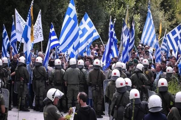 Επεισόδια στις Πρέσπες: Δακρυγόνα και τραυματίες στη συγκέντρωση για το Σκοπιανό!