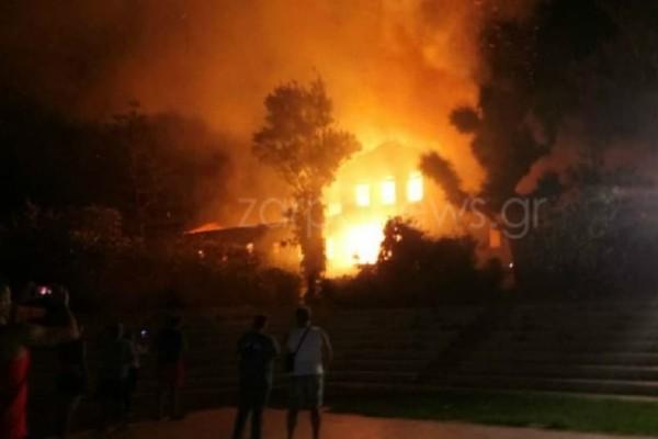 Χανιά: Κάηκε ολοσχερώς το πρώην Πολεμικό Μουσείο! (Video)