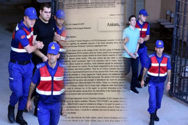 Βόμβα από Άγκυρα για τους 2 Έλληνες στρατιωτικούς!