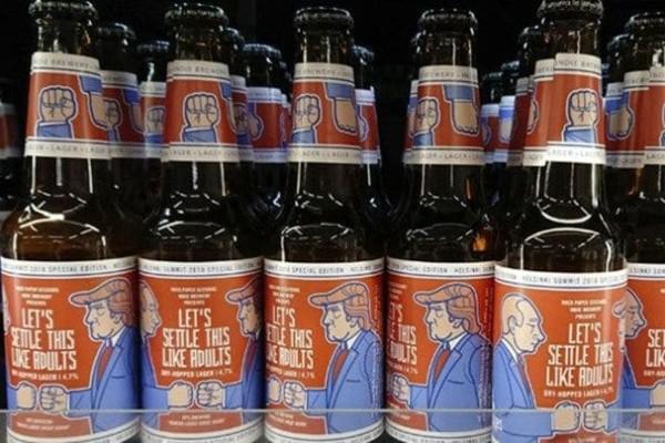 Όντως τώρα; Κυκλοφόρησε μπίρα αφιερωμένη στη συνάντηση Πούτιν - Τραμπ (photo)