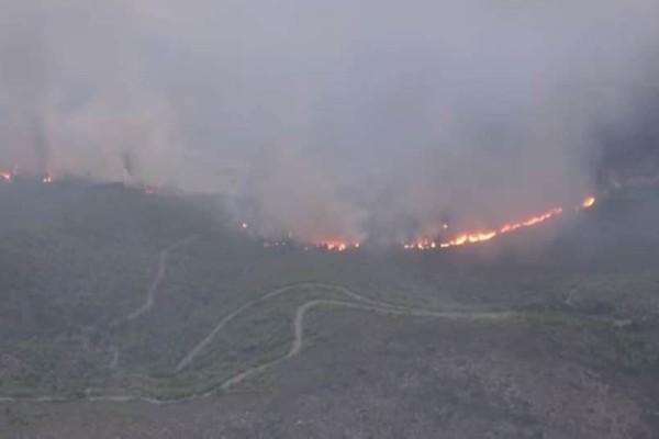 Εικόνες απόλυτης καταστροφής καταγράφονται από το ελικόπτερο του υπουργείου Εθνικής Άμυνας! (Video)