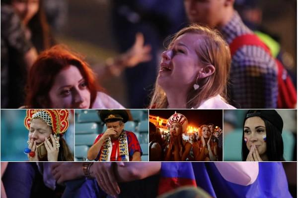 Μουντιάλ 2018: Τα δάκρυα των Ρώσων για τον αποκλεισμό! (photos)