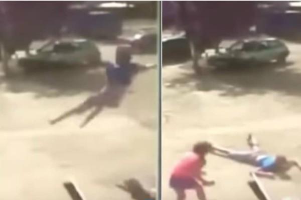 Βίντεο - σοκ: Ξαφνικός ανεμοστρόβιλος σηκώνει στον αέρα έφηβο (video)