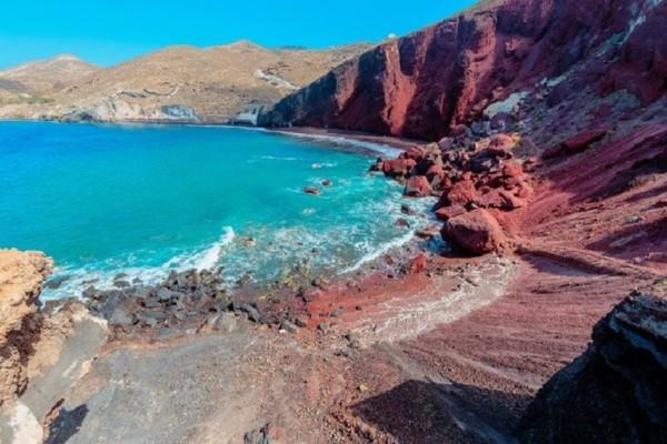 Ένας επίγειος παράδεισος: Η Κόκκινη παραλία της Σαντορίνης!