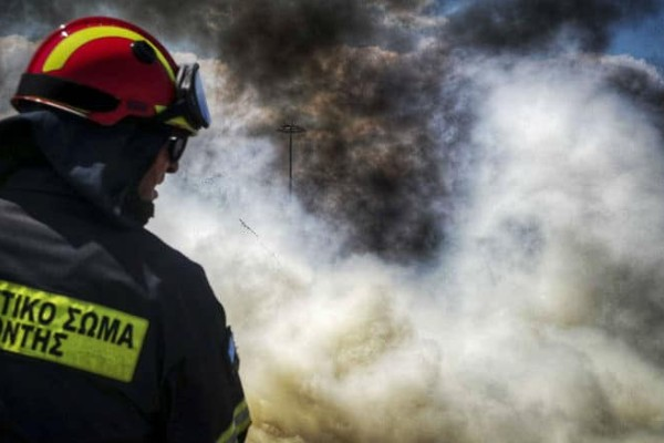 Η φωτιά περικύκλωσε πυροσβέστες και δημοσιογράφους στη λεωφόρο Μαραθώνος! (video)