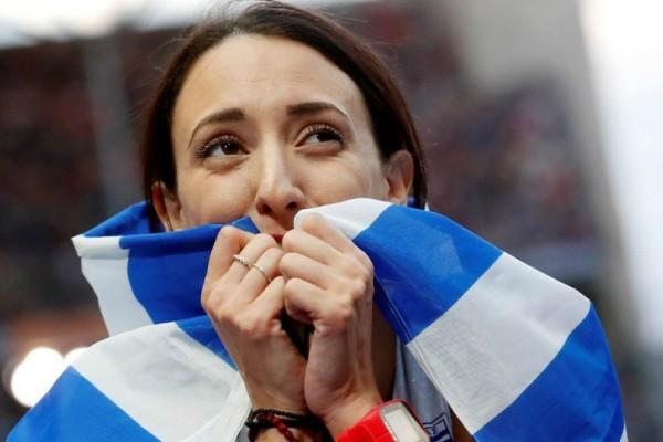 Συγκινεί η Μπελιμπασάκη: Αφιέρωσε το μετάλλιό της στα θύματα των πυρκαγιών (video)