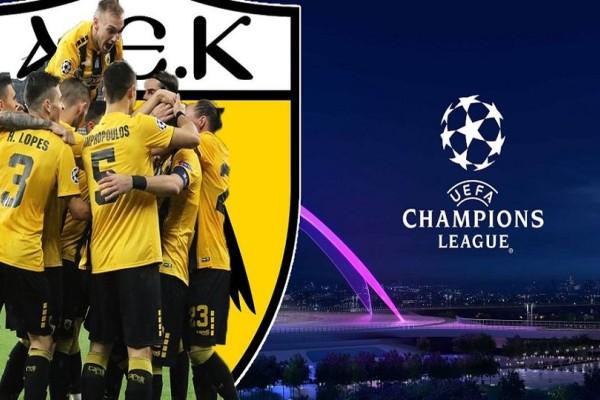 Champions League: Το πρόγραμμα της ΑΕΚ στους ομίλους!