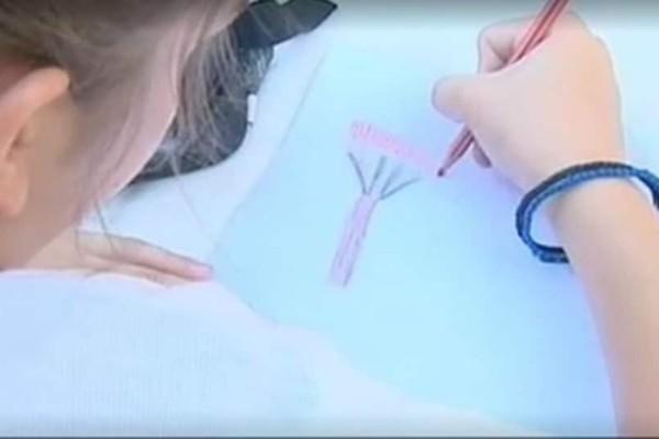 Οι συγκλονιστικές ζωγραφιές μαθήτριας που έζησε την πύρινη λαίλαπα (video)